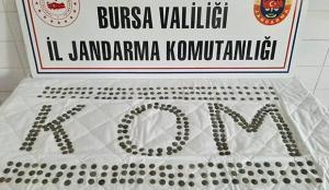 Bursa'da 394 sikke ele geçirildi