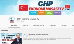 CHP Ekonomi Masası kanalı kuruldu