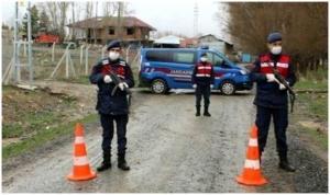 Çorum'da bir köy Covid-19 nedeniyle karantinaya alındı
