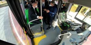 Cumhurbaşkanı Erdoğan İlk Sürücüsüz Otobüsü Test Etti