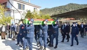Dalaman'da Kore gazisi son yolculuğuna uğurlandı