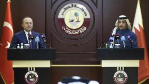 Dışişleri Bakanı Mevlüt Çavuşoğlu, Katarlı mevkidaşı Al Sani ile ortak basın toplantısında konuştu