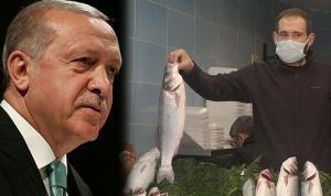 Erdoğan balık aldı…  'Aynı balıktan tekrar istiyorum'