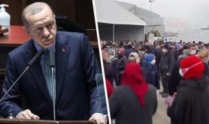 Erdoğan'ın da katıldığı kongrede skandal görüntüler