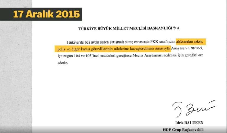 HDP, PKK Tarafından Alıkonulan Asker ve Polisler İçin Daha Önce TBMM'de Yaptığı Çağrılarını Paylaştı