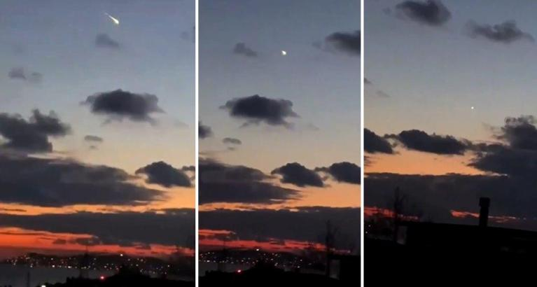 İstanbul'a Meteor Düştüğünü İddia Eden Video