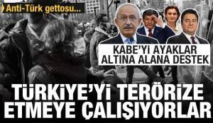 Kabe'yi ayaklar altına alanlara destek verdiler! Anti-Türk gettosu kurmuşlar! Vandallık…