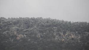 KKTC'ye mevsimin birinci karı yağdı