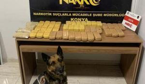 Konya'da 23 kilo 432 gram uyuşturucu ele geçirildi