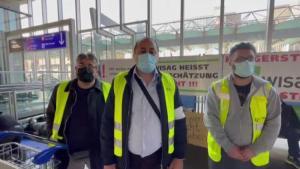 Ortalarında Türkler de var! Frankfurt Havalimanı çalışanlarından açlık grevi: 'Koronavirüsü fırsat bildiler, kapı dışına bıraktılar'