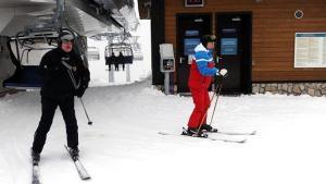 Putin ve Lukaşenko karın tadını çıkardı