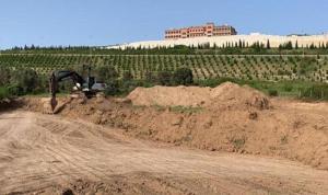 TIR parkı için zeytin ağaçları kesildi yetmedi alana dolgu olarak gömüldü
