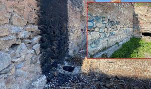 2 bin 500 yıllık surlarda ateş yaktılar