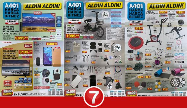 25 Mart A101 Aktüel Kataloğu! Spor aletleri, giyim, züccaciye, elektronik ve kamp ürünlerinde..