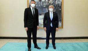 AK Parti Balıkesir Milletvekili Canbey'den, Ziya Selçuk'a teşekkür ziyareti