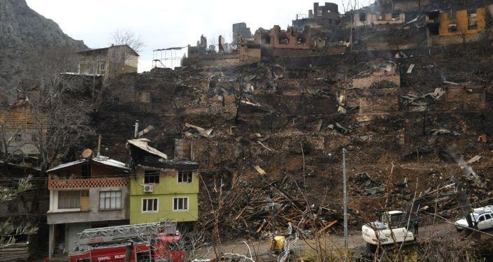 Bakan Kurum'dan Artvin'deki Yangınla İlgili Açıklama