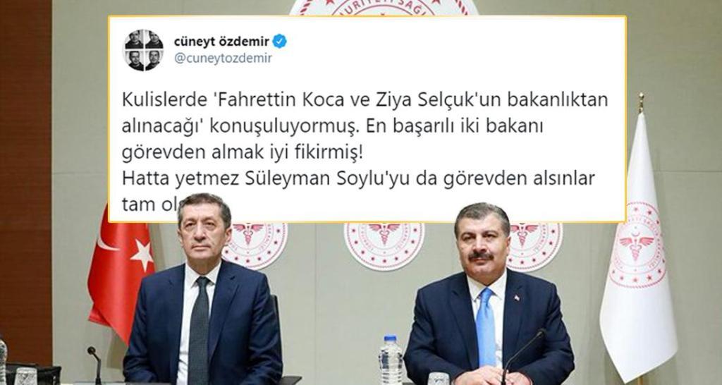 Cüneyt Özdemir'in 'En Başarılı Bakanlar' Paylaşımı Sosyal Medyada Olay Oldu