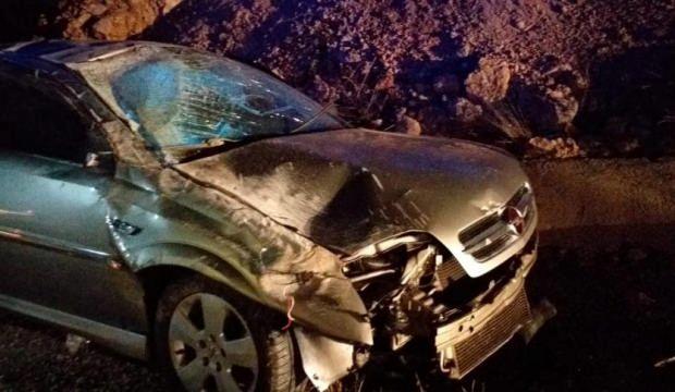 Darende'de otomobil yoldan çıktı: 3 yaralı