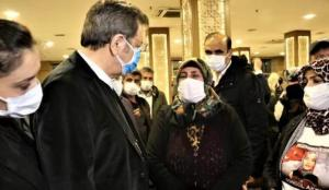 Evlat nöbetindeki ailelere, TOBB ve TESK başkanlarından destek ziyareti