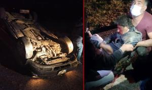 Foça eski Belediye Başkanı aracıyla kaza yaptı