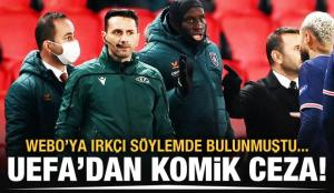 Irkçı hakeme UEFA'dan komik ceza!