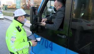 Maltepe'de iki yolcu fazla alan minübüs şoförüne ceza