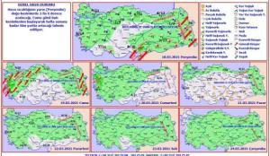 Meteoroloji'den haritalı uyarı: Tüm Türkiye'de kar ve yağmur günlerce sürecek