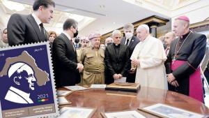 Papa pulunda harita skandalı! Barzaniler'den 'Büyük Kürdistan' propagandası