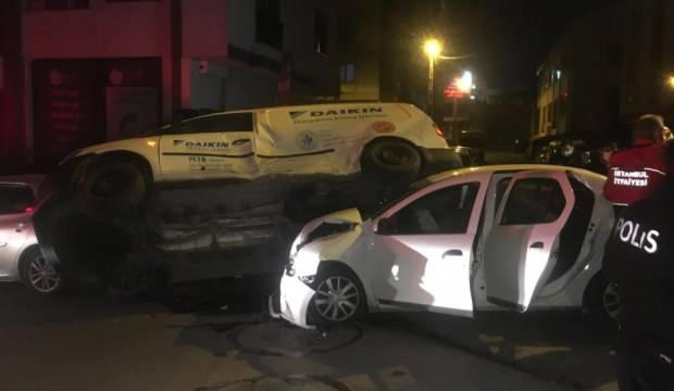 Ümraniye'de kontrolsüz sürücüler dehşet saçtı: 1 yaralı