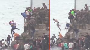 Avrupa medeniyeti bu mu! İspanyol askerleri mültecilere şiddet uygulayarak denize attı