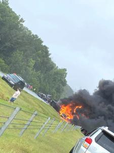 ABD'de şiddetli fırtına faciaya neden oldu! 18 araç birbirine girdi, 9'u çocuk 10 kişi öldü