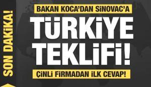 Bakan Koca'dan Sinovac'a Türkiye teklifi