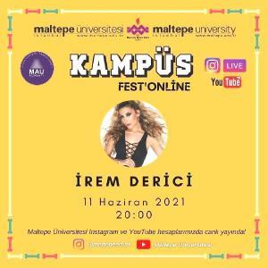 Cem Adrian ve İrem Derici KampüsFest Online Festivali'nde sahnede