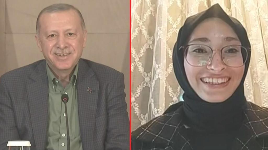 Cumhurbaşkanı Erdoğan'dan sağlığını soran genç kıza gülümseten yanıt: Yıkılmadık, ayaktayız