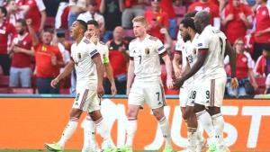 EURO 2020 B Grubu'nda Kevin De Bruyne'nin yıldızlaştığı maçta Belçika, Danimarka'yı 2-1 mağlup etti