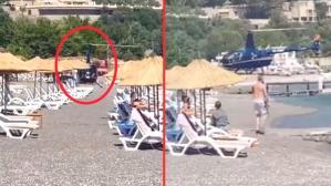 Halk plajına inen helikopterin Aydem Enerji'ye ait olduğu iddiasına şirketten jet hızıyla yalanlama
