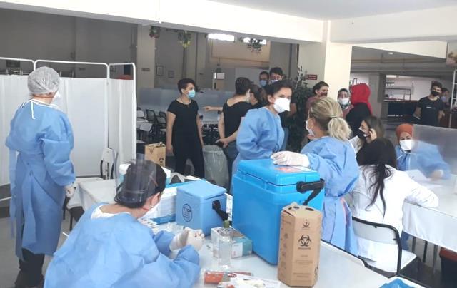 Karabük'te tekstil işçilerine aşı uygulaması başlatıldı