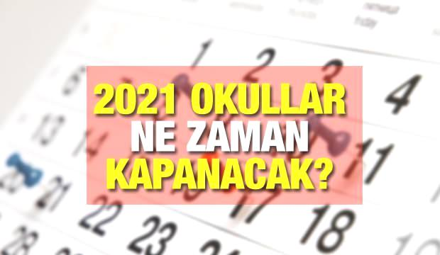 Okullar ne zaman kapanacak? MEB 2021 yaz tatili takvimlerini duyurdu! Yeni eğitim yılı Eylül'de…