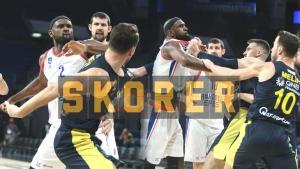 Son dakika – Anadolu Efes – Fenerbahçe Beko maçında kavga! Diskalifiye kararı, büyük tepki