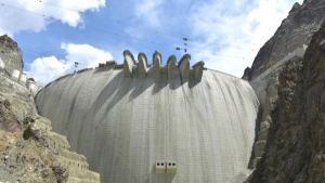 Yusufeli Barajı'nın gövde yapım süreci, 1 dakika 40 saniyede anlatıldı