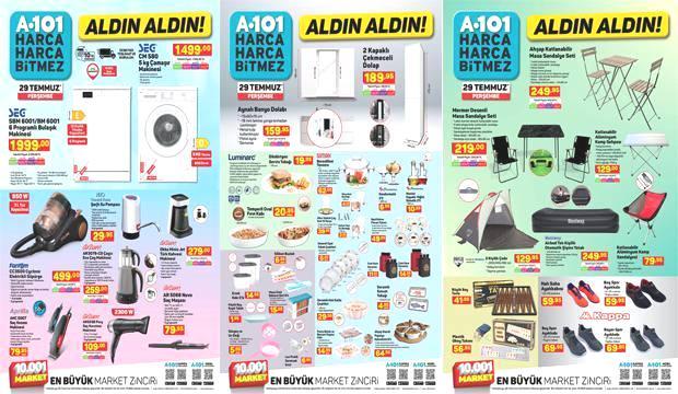 A101 29 Temmuz Aktüel Ürünler Kataloğu! Mutfak araç gereçleri, beyaz eşya ve kamp malzemelerinde