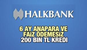 HalkBank 6 Ay Anapara ve Faiz Ödemesiz 200 Bin TL'ye Kredi Sunuyor! 2021 Kredi Başvuru Detayları