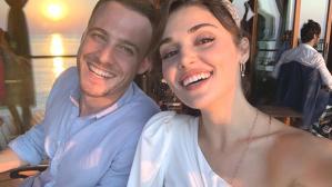 Hande Erçel-Kerem Bürsin çifti, sette öpüşürken hayranlarına yakalandı
