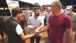 Kurban Pazarlığı Sırasında Kolu Çatlayan Satıcı: 'Artık İstedikleri Fiyata Tamam Diyorum'