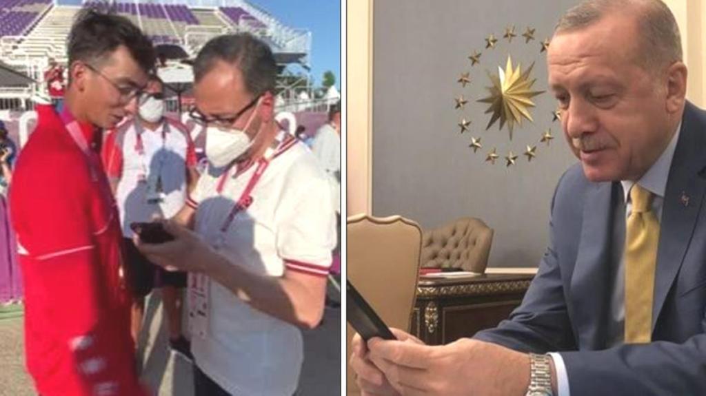 Mete Gazoz'un tarihi başarısı Cumhurbaşkanı Recep Tayyip Erdoğan'ı duygulandırdı