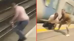 Metrodakiler nefeslerini tutarak izledi! Raylara atlayan adam, saliselerle trenin altında kalmaktan kurtuldu