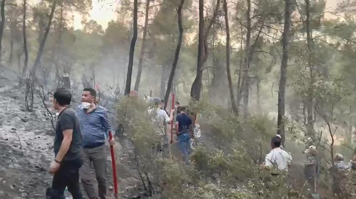 Karacasu'daki yangında 3'üncü gün; bir mahallede kısmi tahliye