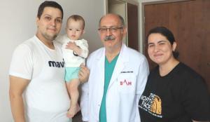 Samsun'da 1 yaşındaki bebek 5 binde 1 görülen hastalığa yakalandı!