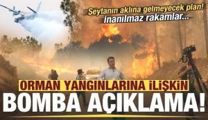 Son dakika: Orman yangınlarına ilişkin bomba açıklama: 10 günlük raporları incelemişler…
