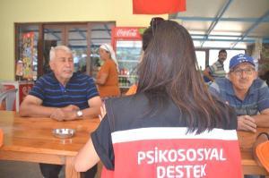 Marmaris'te yangın mağdurlarına psikolojik destek
